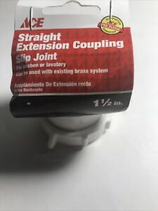 "Ace Hardware  1-1/2""  straight Extension coupling slip joint 4223491"