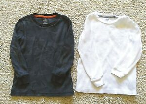 Two Old Navy Boys Top/T- shirt,  Gray& white , Size  XS/ 5T Long Sleeve