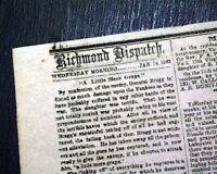 MURFREESBORO TN Tennessee Battle of Stones River CONFEDERATE 1863 Civil War News