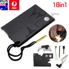 Mini Portable Multi Tool Credit Card 18 in 1 Function Knife Kit Survival Camping
