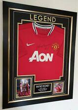 Exclusive EPL Manchester United LEGEND Wayne Rooney Signed Jersey Framed
