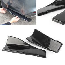 2x Side Skirt Bumper Lip Skid/Scuff/Scrape Protector Strip Spliter Carbon Fiber