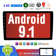 Android 9.1 2Din HD Car Stereo Radio MP5 Player FM GPS Wifi Mirror Link 10.1inch