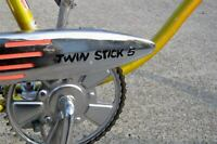 Black Huffy Twin Stick 5 Muscle Bike Decal/Sticker