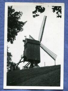 Altes Foto Windmühle Moulin Bockwindmühle Müller Deich wo.?