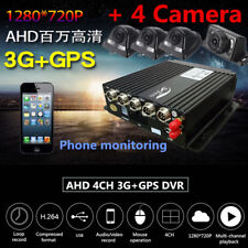 4CH AHD Auto Mobile DVR 3G Wireless GPS Realtime Car Video Recorder + 4 Cameras