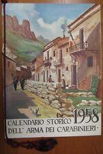 Calendario Storico Arma dei Carabinieri 1958 #L299