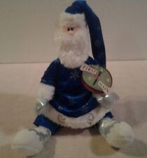 """2002 First & Main plush """"OLE ST. NICKLESBY SANTA COLLECTION"""" with gift tag - NWT"""