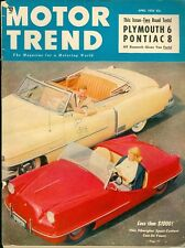 1952 Motor Trend Magazine: Plymouth 6/Pontiac 8/Fiberglass Sport Car Under $1000