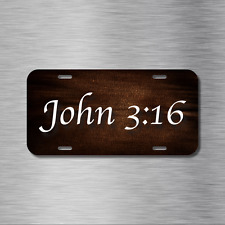 Jesus Cross Vehicle License Plate Front Auto Tag Plate Christian Peace John 3:16