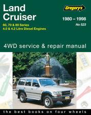 Gregorys Repair Manual Toyota Landcruiser 60 70 80 Series Diesel 1980 - 1998