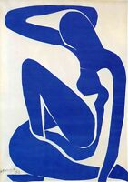 BLUE NUDE HENRI MATISSE - 24X34 INCH LARGE FRAMED HD CANVAS - WOMAN
