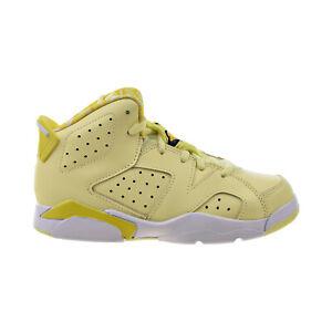 """Air Jordan 6 Retro """"Floral"""" Little Kids' Shoes Citron Tint-Yellow 543389-800"""