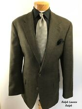 RALPH LAUREN RALPH Canada Mens Sport Coat 44T 2 Button Wool Brown Jacket Blazer