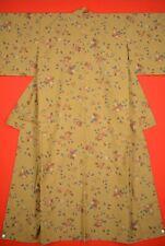 Vintage Japanese Wool Antique BORO KIMONO Kusakizome Dyde Textile/VQ41/1000