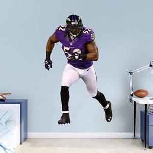 "RAY LEWIS 3'11"" x 6'4"" Lifesize Only Ravens Legend Nike Jersey  NFL BIG FATHEAD"