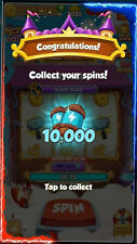 Spin Coin Master +1200 +2400 +4800 +6000 +10.000 . No need FB detail