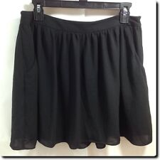 Express Black Full Cut Lined Skirt with Pockets 6