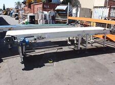 Motorised powered 4m long 75cm wide plastic chain link conveyor system