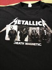Men's XL Vintage Metallica Picture Of Band Death Magnetic Concert Tour T-Shirt