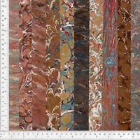 Hand Marbled Paper Set of 10, 9x48cm 3.5x19in Bookbinding Restoration