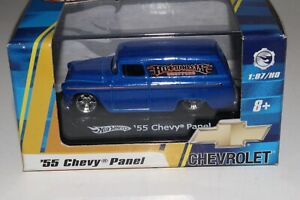 HOT WHEELS 1955 CHEVROLET PANEL DELIVERY TRUCK, BLUE, 1:87 HO SCALE, NIB