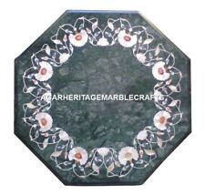 "12"" Marble Coffee Table Top Rare Stone Pietradure Inlay Work Art Furniture H2022"