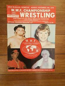 1979 WWF Wrestling Program David Von Erich MSG Debut Bob Backlund Ted Dibiase