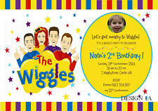 THE WIGGLES BIRTHDAY PARTY SUPPLIES PERSONALISED INVITATIONS CARD MANY DESIGN