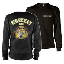 Officially Licensed Mayans M.C. - Backpatch Long Sleeve T-Shirt S-XXL Sizes