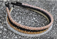 Women Lady Girl Bling Shiny Crystal look Beads Party Princess Hair Head Band