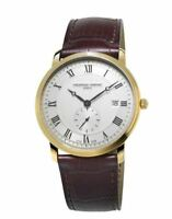 Frédérique Constant Men's FC-245MS5S5 Quartz Silver Dial Gold Tone 39mm Watch