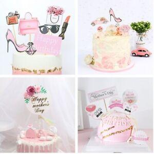 Happy Birthday Cake Toppers Birthday Wedding Party Cupcake Dessert Baking Decor