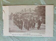 m17a7 book picture ephemera 1917 naval wedding jack tars pull the grooms car
