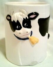 CERAMIC COW CUP MUG PEN HOLDER NO HANDLE 3D