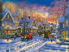 Jigsaw Puzzle Seasonal Landscape Winterscape Holiday Drive 1000 pieces NEW USA
