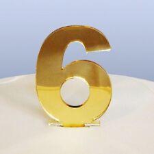 Contemporanea Numero 6 Topper Torta - Mirroring ORO