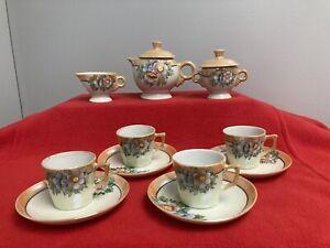 Vintage Childrens Luster Tea Set