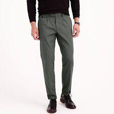J Crew Pants 38x31 Blue Wallace Barnes Mens Size Trouser Pleated Cotton Blend