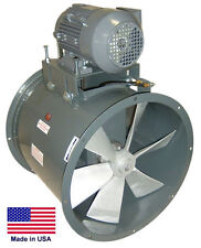 """New listing Tube Axial Duct Fan - Belt Drive - 24"""" - 1 Hp - 3 Phase - 230/460V - 7450 Cfm"""