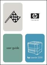 HP LaserJet 2200 Laser Printer 172 PAGE User Guide/Manual    *PAPER not PDF* Pod