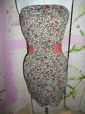 """""""M N G by MANGO"""" Size Large, Floral Dress, Ties in Back, DESIGNER, Mini"""
