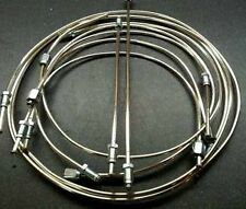 SUNBEAM ALPINE SERIES 2, 1962, FULL POLISHED CUPRO - NICKEL  BRAKE PIPE SET