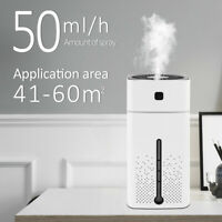 LED Air Humidifier Ultrasonic Cool Mist Steam Nebuliser Aroma Diffuser Purifier