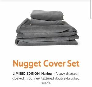 NUGGET Couch Cover Set LIMITED EDITION Harbor Charcoal Suede