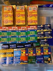 45 films job lot expired film 35mm