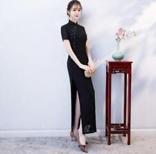 new red  chinese women's Evening lace long Dress Ball Cheongsam S- 3XL