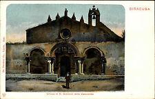 Syrakus Siracusa Italien Sizilien Litho ~1900 Chiesa di San Giovanni Kirche Dom