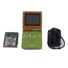 Nintendo Game Boy Advance SP, Shrek Orange-Green, Limited edition Mario Deluxe