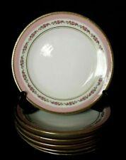 6 assiettes à dessert en porcelaine de Limoges décor guirlande de roses d. 17,5
